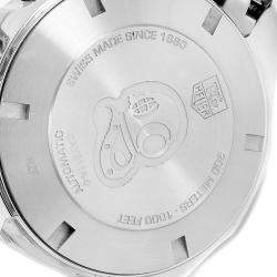 Tag Heuer Black Stainless Steel Aquaracer Chronograph CAY211A Men's Wristwatch 43 MM