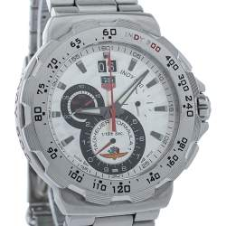 Tag Heuer Silver Stainless Steel Formula 1 CAH101B Indy 500 Chronograph Quartz Men's Wristwatch 44MM