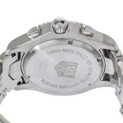 Tag Heuer Black Stainless Steel Chronograph Link CJ1110.BA0576 Men's Wristwatch 42 mm