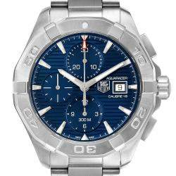 Tag Heuer Blue Stainless Steel Aquaracer Chronograph CAY2112 Men's Wristwatch 43 MM