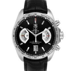 Tag Heuer Black Stainless Steel Grand Carrera Automatic CAV511A Men's Wristwatch 43 MM