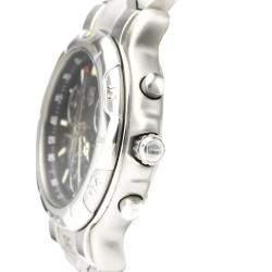 Tag Heuer Black Stainless Steel 6000 Chronogragh Quartz CH1113 Men's Wristwatch 40 MM