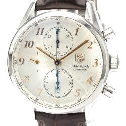 Tag Heuer Silver Stainless Steel Carrera Automatic CAS2112 Men's Wristwatch 41 MM