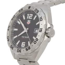 Tag Heuer Black Stainless Steel Formula 1 WAZ1112.BA0875 Quartz Men's Wristwatch 41 mm