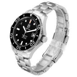 Tag Heuer Black Stainless Steel Aquaracer Limited Edition WAN2114 Men's Wristwatch 41 MM
