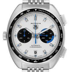 Tag Heuer Silver Stainless Steel Autavia Automatic Chronograph CY2110 Men's Wristwatch 43 MM