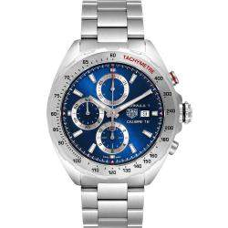 Tag Heuer Blue Stainless Steel Formula 1 Chronograph CAZ2015 Men's Wristwatch 44 MM
