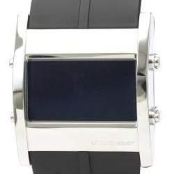 Tag Heuer Black Stainless Steel Microtimer CS111C Quartz Men's Wristwatch 38 MM