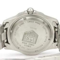Tag Heuer Blue Stainless Steel 2000 Classic Wk1113 Quartz Men's Wristwatch 37 MM