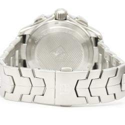 Tag Heuer Silver Stainless Steel Link Calibre 16 Chronograph Automatic CAT2011 Men's Wristwatch 43 MM