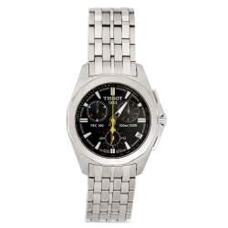 Tissot Black Stainless Steel PRC100 Men's Wristwatch 39 mm
