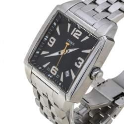 Tissot Black Stainless Steel Quadrato T005.510.A Men's Wristwatch 36 MM