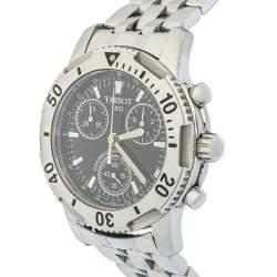 Tissot Black Stainless Steel Chronograph T-Sport PRS200 Men's Wristwatch 40mm