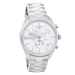 Tissot Silver Stainless Steel T Sport PR100 T101.417.11.031.00 Men's Wristwatch 41 mm