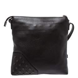 Tod's Brown Leather Reporter Messenger Bag