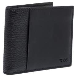Tod's Black Leather Bifold Wallet