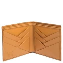 Tod's Orange Leather Bifold Wallet