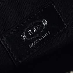Tod's Black Leather Messenger Bag