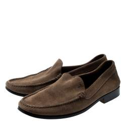 Tod's Brown Suede Loafers Size 42.5