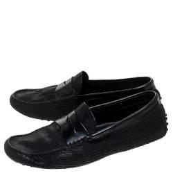 حذاء لوفرز تودز غومينو دريفينغ جلد أسود مقاس 42
