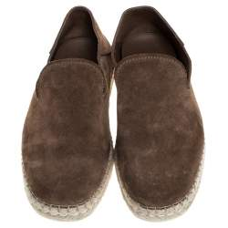 Tod's Brown Suede Collapsible-heel Espadrille Loafers Size 39.5