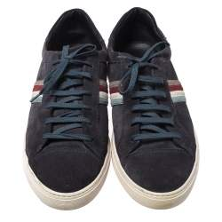 Tod's Blue Suede Leather Low Top Sneakers Size 44