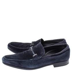 Tod's Blue Suede Braided Bit Loafers Size 42
