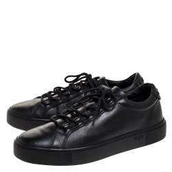 Tod's Black Leather Lace Up Sneakers Size 39.5