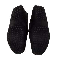 Tod's Black Suede Penny Loafers Size 43