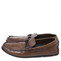 Tod's Dark Brown Leather Penny Loafers Size 42.5