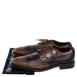 Tod's Brown Brogue Leather Lace Up Derby Size 41