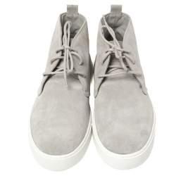 Tods Grey Suede High Top Sneaker Size 44.5