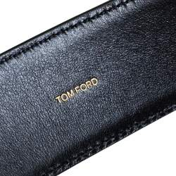 Tom Ford Black Leather T Buckle Belt 105 CM