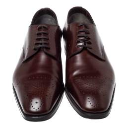 Tom Ford Brown Leather Lace Up Oxfords Size 43