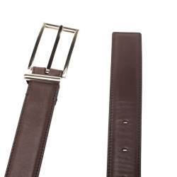Tom Ford Brown Leather Buckle Belt Size 105CM