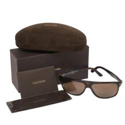 Tom Ford Dark Havana/ Brown FT0501/S Square Sunglasses