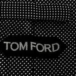 Tom Ford Monochrome Dotted Silk Traditional Tie