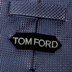 Tom Ford Lavender Basketweave Silk Jacquard Traditional Tie