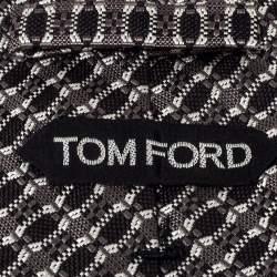 ربطة عنق توم فورد جرير جاكار مونوكرومي