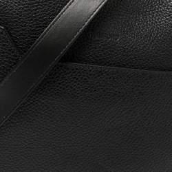 Tom Ford Black Grain Leather Messenger Bag