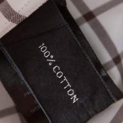 Tom Ford Brown and White Checked Cotton Long Sleeve Button Front Shirt XL