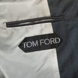 Tom Ford Grey Wool and Silk Blend Regular Fit Blazer L