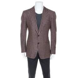 Tom Ford Brown Checked Wool Twill Blazer XL