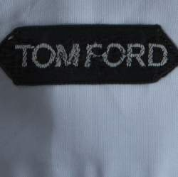 Tom Ford Light Blue Cotton Front Button Shirt M