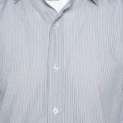 Tom Ford White & Black Pinstriped Cotton Long Sleeve Shirt XXL