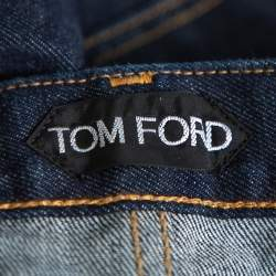 Tom Ford Navy Blue Denim Slim Selvage Jeans M