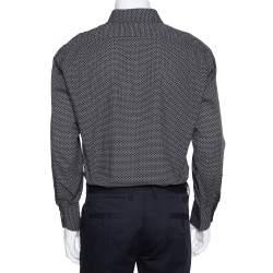 Tom Ford Monochrome Cotton Button Front Shirt 3XL