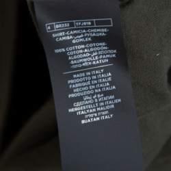 Tom Ford Dark Green Knit Button Front Shirt XL