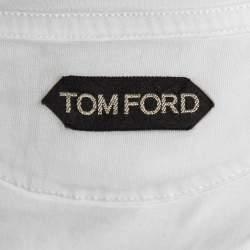Tom Ford White Cotton V-Neck T-Shirt S