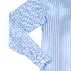 Tom Ford Men's Blue Fine Striped Shirt S